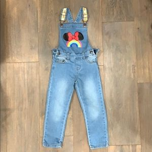 Little girls denim overalls